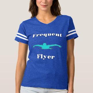 Camiseta de las señoras de la nadada del viajero playera