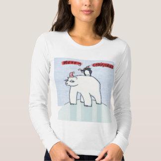 Camiseta de las señoras de la nieve de las Felices Playeras