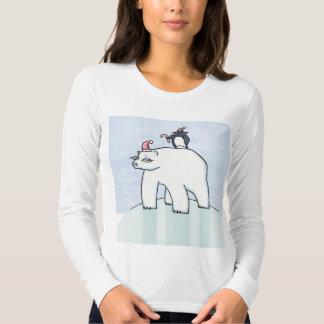 Camiseta de las señoras de la nieve del navidad remeras