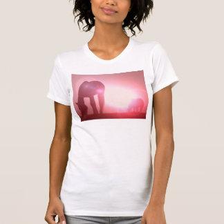 Camiseta de las señoras de la silueta del caballo