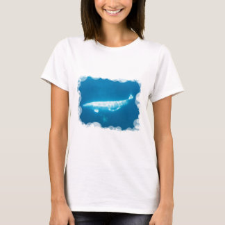 Camiseta de las señoras de las ballenas de la