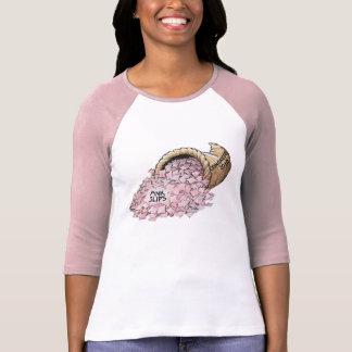 Camiseta de las señoras de las hojas rosas 2010 playeras
