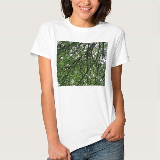 Camiseta de las señoras de las ramas y de las playeras