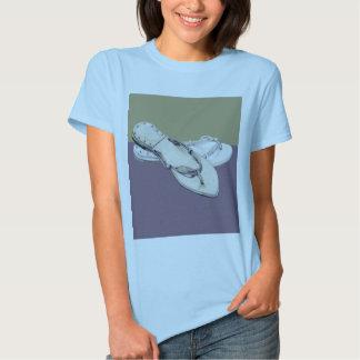 Camiseta de las señoras de los deslizadores playeras
