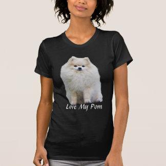 Camiseta de las señoras de Pomeranian Playeras