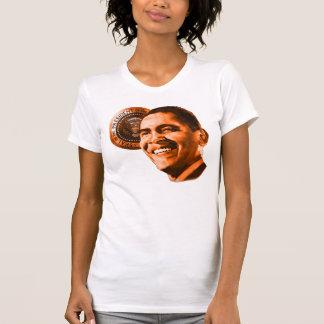 Camiseta de las señoras de presidente 44 Barack Playera