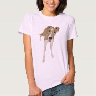 Camiseta de las señoras de Whippet del cervatillo Camisas