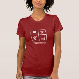 Camiseta de las señoras del amante de la libertad playeras