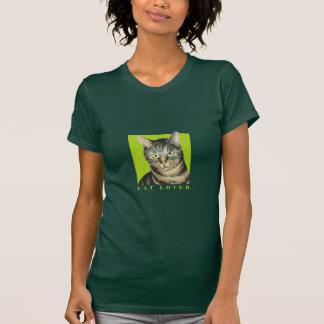 Camiseta de las señoras del amante del gato playera