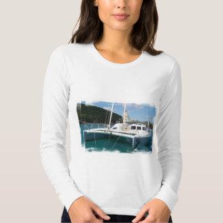 Camiseta de las señoras del catamarán polera