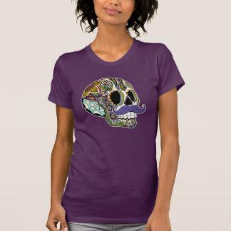 Camiseta de las señoras del cráneo del azúcar del