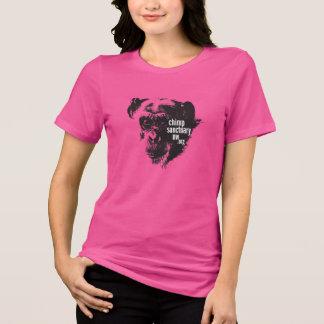 Camiseta de las señoras del cuello barco con el di