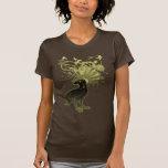 Camiseta de las señoras del cuervo del kamikaze