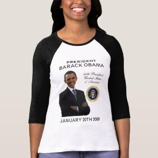 Camiseta de las señoras del día de inauguración de poleras