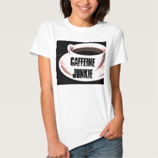Camiseta de las señoras del drogadicto del cafeína poleras