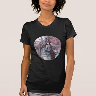 Camiseta de las señoras del gato de la bruja de playeras