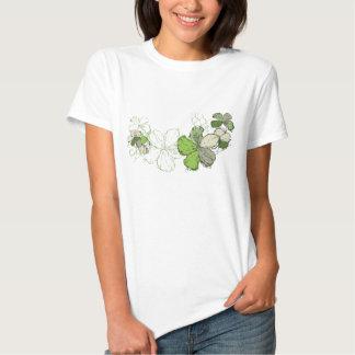 Camiseta de las señoras del hibisco del Doodle Remeras