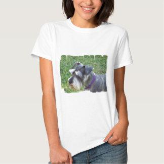 Camiseta de las señoras del Schnauzer Poleras