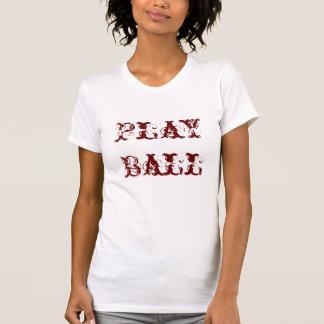 Camiseta de las señoras del softball playera