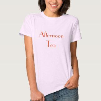 Camiseta de las señoras del té de tarde playera