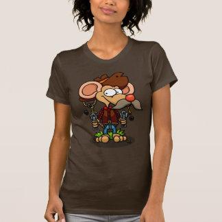 Camiseta de las señoras del vaquero del ratón playera