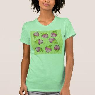 Camiseta de las señoras del verde de la alegría de
