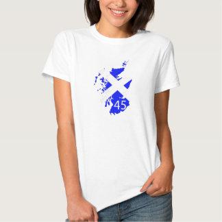 Camiseta de las señoras Escocia 45 Poleras