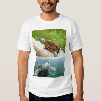 Camiseta de las tortugas de la tortuga acuática de poleras