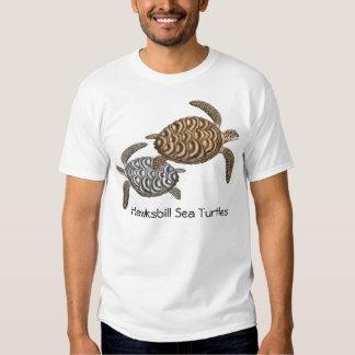 Camiseta de las tortugas de mar de Hawksbill Polera