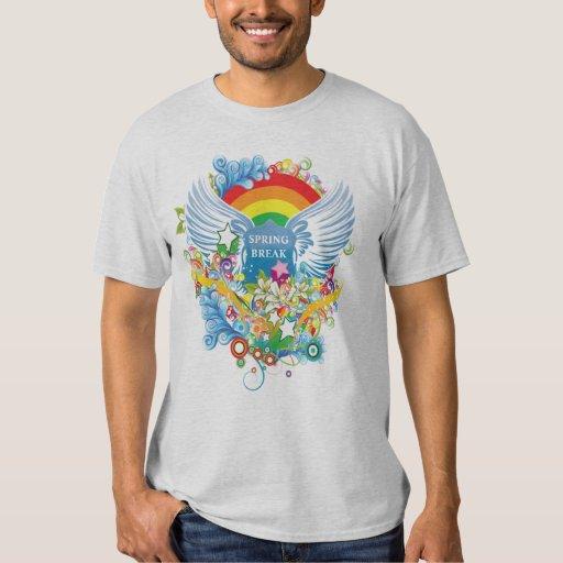 camiseta de las vacaciones de primavera del arte playera