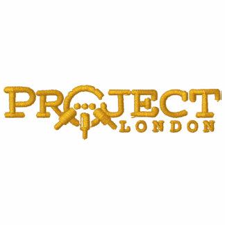 Camiseta de Londres del proyecto (hilo del oro) Sudadera Bordada