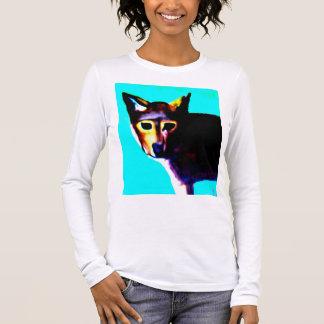 Camiseta de Longsleeve del lobo rojo