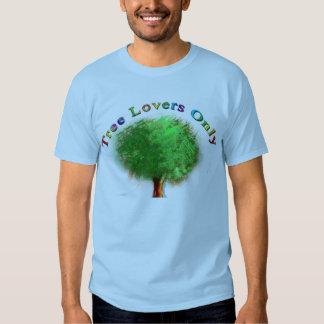 Camiseta de los amantes del árbol solamente camisas
