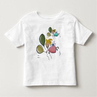 Camiseta de los ángeles del corazón playera