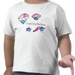 Camiseta de los arándanos que se lanza en paracaíd