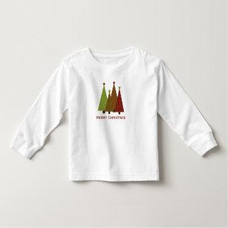 Camiseta de los árboles de navidad del calicó camisas