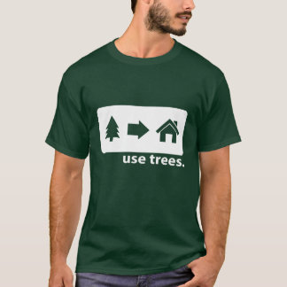 Camiseta de los árboles del uso