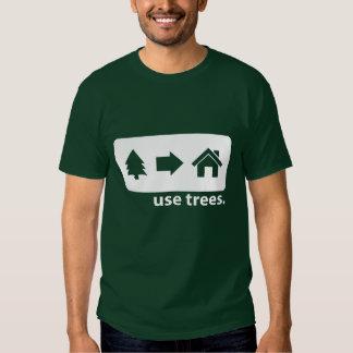 Camiseta de los árboles del uso remeras