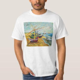 Camiseta de los barcos de pesca de Van Gogh Playera
