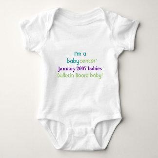 Camiseta de los bebés de la BBC 0107 del Poleras