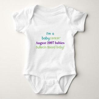 Camiseta de los bebés de la BBC 0807 del Playeras