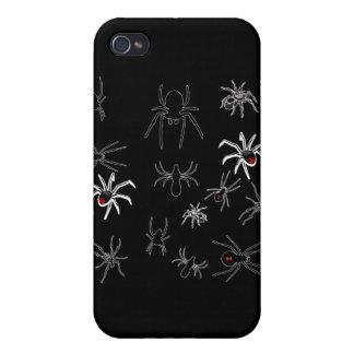 Camiseta de los bichos de las arañas iPhone 4/4S carcasas