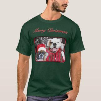 Camiseta de los boxeadores de las Felices Navidad