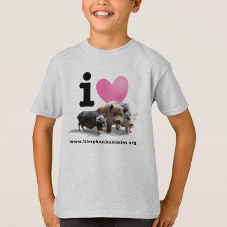Camiseta de los cerdos <3 del I de los niños Poleras