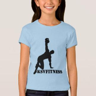 Camiseta de los chicas de la aptitud de KSV
