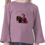 Camiseta de los chicas del perrito del boxeador de