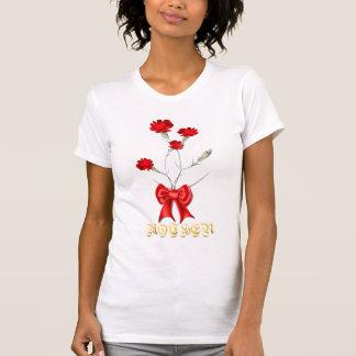 Camiseta de los claveles del día de madre