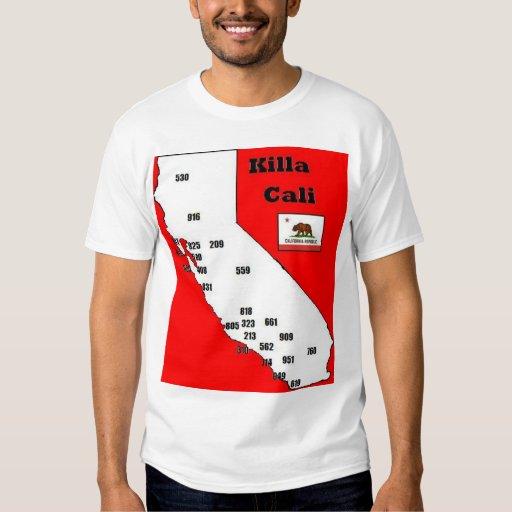 Camiseta de los códigos de área de California Camisas