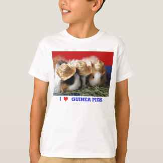 Camiseta de los conejillos de Indias del amor de