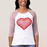 Camiseta de los corazones del caramelo